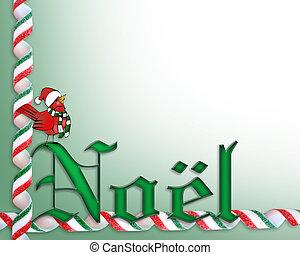 ノエル, クリスマスカード, 背景