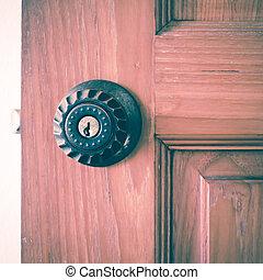 ノブ, 穴, ドアの キー