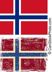 ノルウェー語, ベクトル, グランジ, flag.