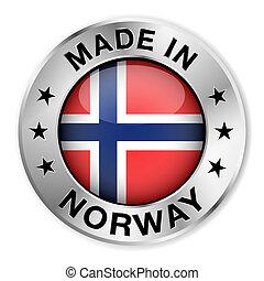 ノルウェー, 作られた, バッジ, 銀
