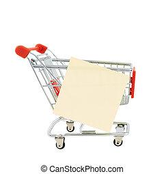 ノートペーパー, 買い物カート