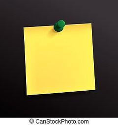 ノートペーパー, 黄色, ピン