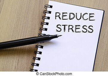 ノート, ストレス, 書きなさい, 減らしなさい