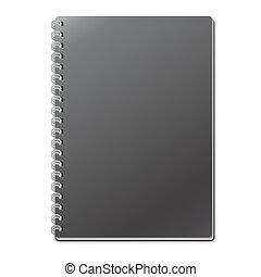 ノート, 黒, 空, テンプレート
