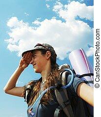ハイキング, 女の子