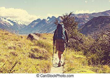 ハイキング, patagonia
