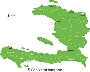 ハイチ, 地図