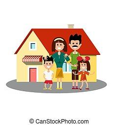 ハウスアイコン, 家族, 幸せ