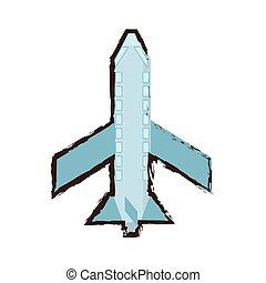 ハエ, スケッチ, 色, 旅行, 飛行機, 輸送