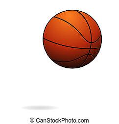 ハエ, バスケットボール, 隔離された, 印, ボールスポーツ