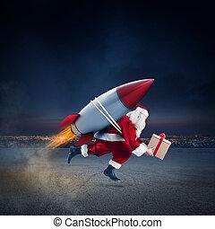 ハエ, 出産, ロケット, 速い, 贈り物, 準備ができた, クリスマス
