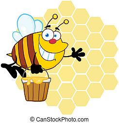 ハチの巣, 前部, 微笑, 蜂