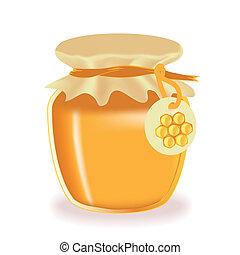 ハチミツのジャー