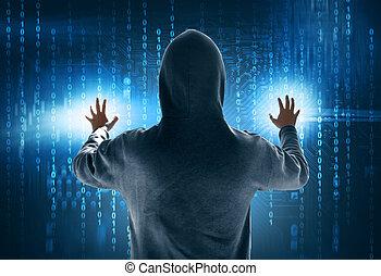 ハッカー, データ, 盗みをはたらく