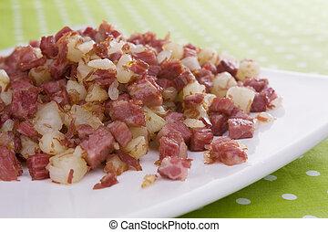 ハッシュ料理, 牛肉, corned
