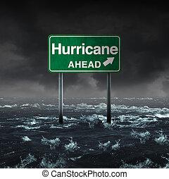 ハリケーン, 前方に