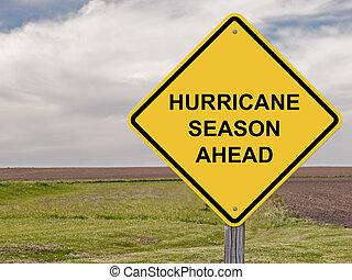 ハリケーン, 注意, -, 前方に, 季節