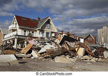 ハリケーン, 砂, 破壊