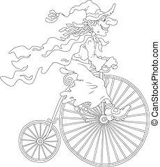 ハロウィーン魔女, サイクリング