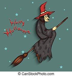 ハロウィーン魔女