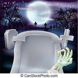 ハロウィーン, 墓, 背景