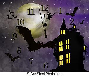 ハロウィーン, 幽霊が出る家