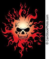 ハロウィーン, 悪, 燃焼, シンボル。