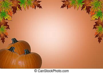 ハロウィーン, 感謝祭, カード, 秋