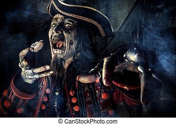 ハロウィーン, 海賊, 死んだ