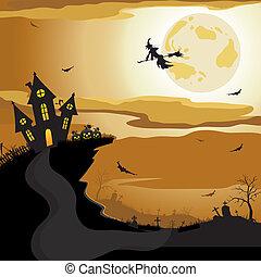 ハロウィーン, 背景, 夜