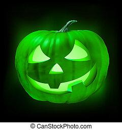 ハロウィーン, eps, o, ジャッキ, 8, pumpkin., ランタン