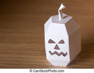 ハロウィーン,  papercraft, カボチャ
