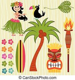 ハワイ, イラスト