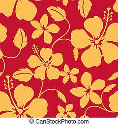 ハワイ, パターン, seamless, フラダンス
