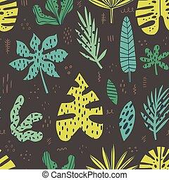 ハワイ, 手, 引かれる, seamless, パターン