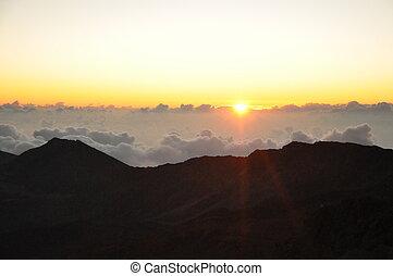 ハワイ, 日の出, haleakala