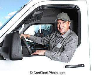 ハンサム, トラック, driver.