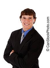 ハンサム, 若い, ビジネスマン, 肖像画