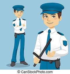 ハンサム, 警察男