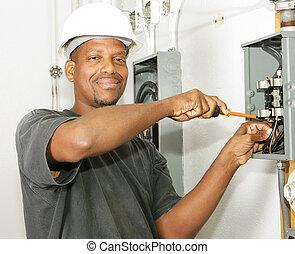 ハンサム, 電気技師