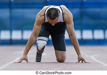 ハンディキャップ, 始めなさい, 運動選手, ポジション