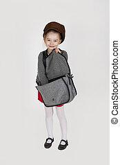 ハンドバッグ, 女の子, 若い