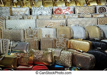 ハンドバッグ, kolkata, セール, インド, 新しい, 示された, 区域, 装飾用である, 市場