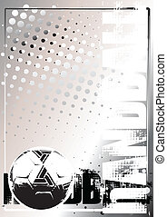 ハンドボール, ポスター, 2, 銀, 背景