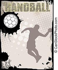 ハンドボール, 抽象的, 背景