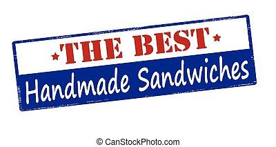 ハンドメイド, サンドイッチ, 最も良く