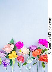 ハンドメイド ペーパー, 花
