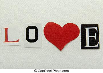 ハンドメイド, 単語のペーパー, 愛, 背景