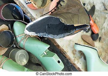 ハンドメイド, 製造, ブーツ, footwear., 未完成