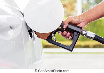 ハンドル, 燃料, 車。